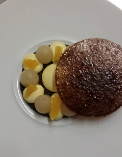 Tarte aux poires safran orange pain d'épices