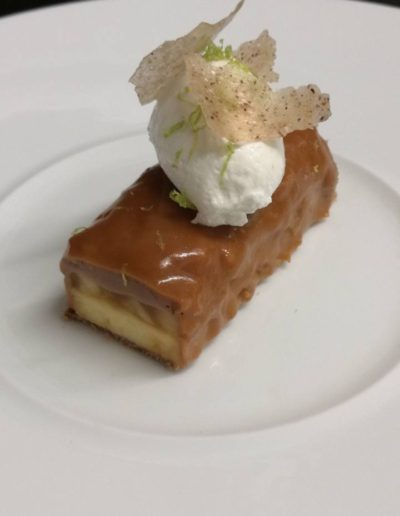 Biscuit fromage blanc pomme noix caramel mascarpone
