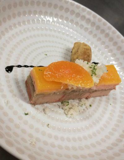 Foie gras, clémentine, saumon fumé